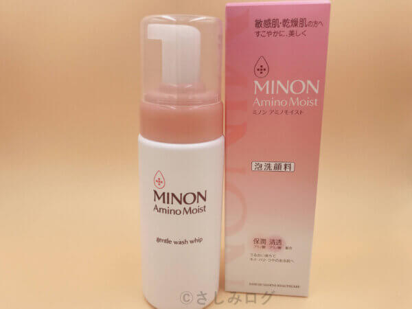 ミノンの泡洗顔料